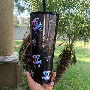 Black ombré Starbucks cup